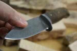 Jagdmesser aus Damaszener Jagdmesser 1 Stahl