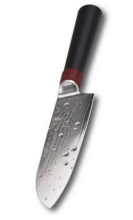 TUO RING Santokumesser - Japanischer VG10 Super Stahl 67 Schichten Damaststahl & Hoher Kohlenstoff Stahl & Ergonomischer Griff, Klinge 14cm