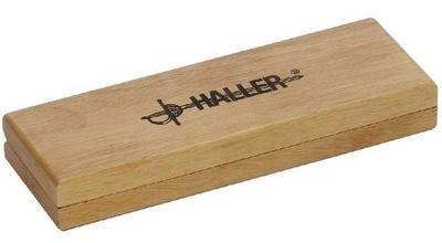 Haller Damast-Taschenmesser Olivenholzgriff - Holzschachtel