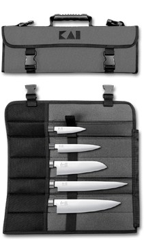 Kai Wasabi Messerset inklusive robuster Tasche