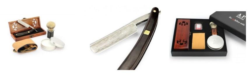 Damast Rasiermesser Sets und Klingen