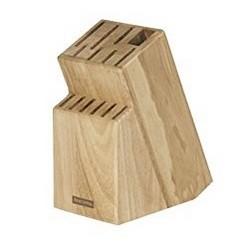 Messerblock Block WOODY für 13 Messer und Schere und Wetzstahl